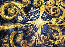DOCTOR WHO - VAN GOGH EXPLODING TARDIS POSTER 24x36 - DR TV BBC 50602