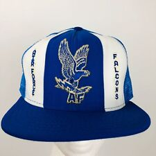 Vintage Air Force Falcons Cap Snapback Blue Trucker Hat Flying Eagle