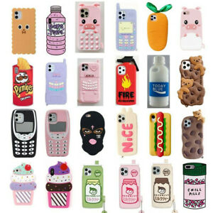 Case for iPhone 11 Pro Max XR 6 8 7 Plus Cover Cute 3D Cartoon Soft Silicone Kids