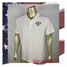 Gap 1969 Men'S Polo Flag Usa Shirt T-Shirtswhite /Navy Blue Size Large
