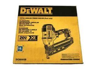 NEW DEWALT DCN660B 20V MAX 16G 2-1/2 in. 20 Deg. Angled Finish Nailer BARE TOOL