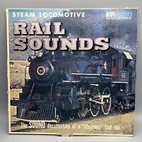 Steam Locomotive Rail Sounds (A Farewell To Steam) LP Vinyl Album Lionel Train