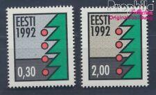 Estland 195y-196y floureszierendes Papier postfrisch 1992 Weihnachten (8470469