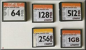 KINGSTON Compact Flash CF 64MB 256MB 512MB 1024MB 2048MB mit Schutzhülle