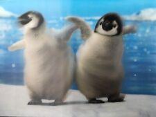 Avanti Greeting Card 3D Lentcular Motion Movement NEW Penguins Happy Birthday