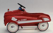 1/3 XoneX Die Cast Metal Fire Chief Pedal Car