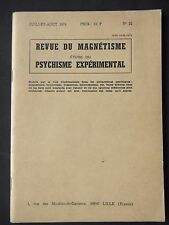REVUE DU MAGNÉTISME N° 22 - MAGNÉTISEURS ANIMAUX - DÉDOUBLEMENT PERSONNEL