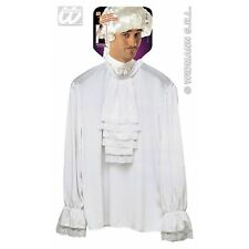 Adult's White Lace Jabot Shirt - Character Fancy Dress Costume Medium