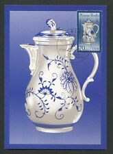 DDR MK 1989 MEISSENER PORZELLAN CHINA PORCELAIN MAXIMUM CARD MC CM d7474