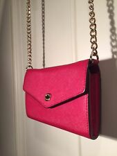 Authentic MICHAEL KORS Jet Set Travel Wallet On Chain CrossBody Red iPhone