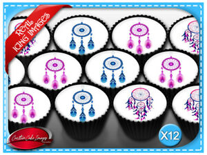 Dream Catcher Edible Icing Image Cupcake Cake Toppers Birthday Party Decoration