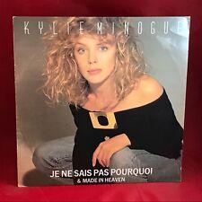 """KYLIE MINOGUE Je Ne Sais Pas Pourquoi  UK 12"""" vinyl single EXCELLENT CONDITION"""