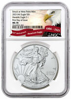 2021(W) American Silver Eagle Struck West Point Mint NGC MS70 FDI Eagle Label