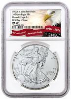2021(W) American Silver Eagle Struck West Point Mint NGC MS70 FDI Eagle Label