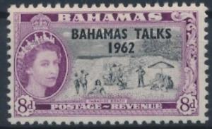Bahamas - 1963 - Sc 181 - 8p Rose Violet and Black Bahamas Talks MH