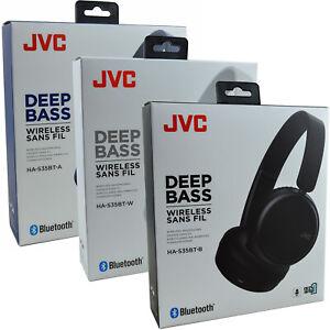 New JVC-S35BT On-Ear Bluetooth Wireless Dynamic Deep Bass Headphones Headset