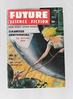 Future Science Fiction #35 Feb 1958 Pulp Digest Isaac Asimov Emsh GGA Cover VG