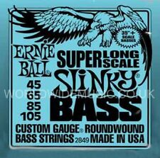 Ernie Ball 2849 Super Long Scale Slinky Roundwound Bass Guitar Strings 45 - 105