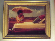 """""""The Waiting"""" ( Mark Spain) signed numbered Serigraph on Canvas Board"""