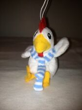 ROOSTER CHRISTMAS ORNAMENT ZYNGA FARMVILLE PLUSH STUFFED ANIMAL FARM, NEW!!