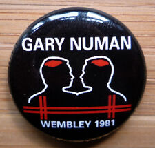 Gary Numan - Wembley 1981 25mm Pin Badge - NUWMB1