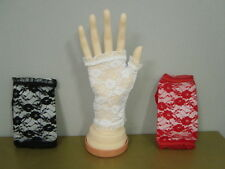 80's 80s Party Costume Wedding Lace Gloves Fingerless Half Finger User Defined