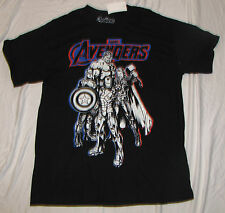 XL MARVEL MENS T-SHIRT THOR THE AVENGERS COMICS CAPTAIN AMERICA IRON MAN GLOW IN