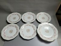 Vintage Floral Plate with Beautiful Flowers Pattern Set of 5 Plates & 3 Plates
