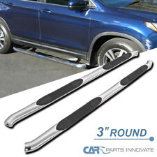 "Fit 16-18 Honda Pilot Pair Mild Steel 3/""Round Tubing Nerf Bar Side Step Board"