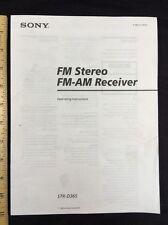 Sony str-d365 Stereo Receiver Original Betriebsanleitung 14 Seiten STRD 365