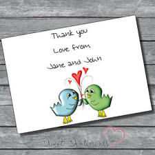 Personalised  Engagement Wedding  Thank You Notes Card 12  + Envelopes s10