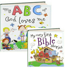 My First Bible Stories & MY ABC of God Loves Me (Board Books) FREE shipping $35
