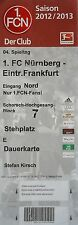 TICKET 2012/13 1. FC Nürnberg - Eintracht Frankfurt