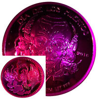 2018 1 Oz Silver Proof Dia De Los Muertos Mexico Day Of The Dead Wild Violet