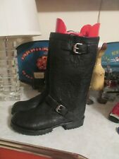 Jim barnier anthropologie  Black leather LOW E boots size 9.5 new $495