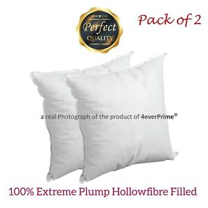 Cushion Pads Inserts Fillers Scatters 18x18 Inch Pack of 2 - Extra Deep Filled