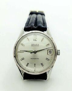 Vintage Gruen Precision Automatic Men's Watch ~ Running Great !!!