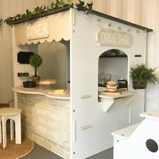 CUBBY HOUSE CAFE INDOOR PLAY SHOP - UNPAINTED DIY - QUALITY AUSTRALIAN MADE