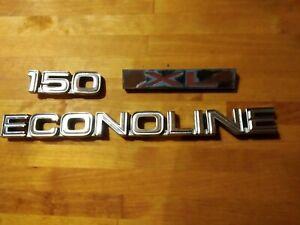 Factory OEM Ford Econoline 150 XL Fender Emblems Badges 84-91