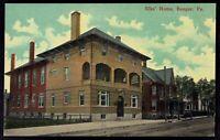 Pennsylvania, Bangor Elks Home -  lithochrome unposted Postcard pa7