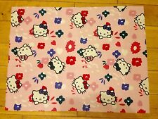 HELLO KITTY FABRIC FQ-48cmX65cm–POLYCOTTON/POLYESTER MATERIAL-CHILDREN/KIDS-PINK