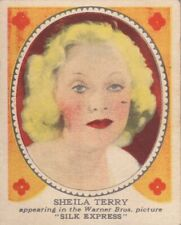 "SHEILA  TERRY - HAMILTON CHEWING GUM "" hollywood PICTURE star "" 1935  gum card"