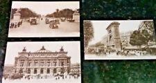 3 Early 1900's Mercedes Benz Trolley Car Paris Street Railway Arch Postcards