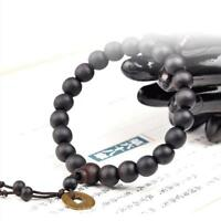 Stylish Mens Wooden Buddha Buddhist Prayer Beads Tibet Mala Wrist Bracelet