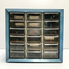 Vintage 18 Drawer Arko Mils Metal Nutbolt Small Parts Storage Cabinet Organizer