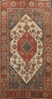 Antique Geometric Ivory Heriz Bakhshayesh Area Rug Hand-knotted Wool 8x11 Carpet