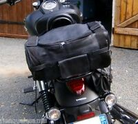 sac Rool bag en Cuir sissy bar moto custom ( harley shadow intruder dragstar VN