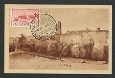 ALGERIE MK 1952 ROTES KREUZ RED CROSS BOU NOURA CARTE MAXIMUM CARD MC CM d4199