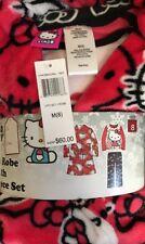 NWT Sanrio Licensed 3-Piece Plush Robe & Fleece Pajama Set, Hello Kitty 8(M)