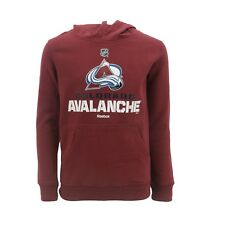 Colorado Avalanche Official NHL Reebok Kids Youth Size Hooded Sweatshirt New